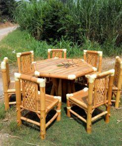 Bambus Trädgård Möbler