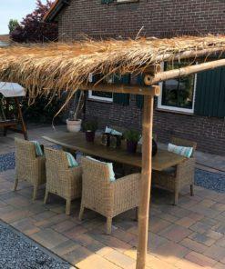 Bambu Pergola med bjälkar