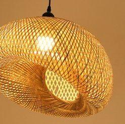 Bambu lampa & skärmar